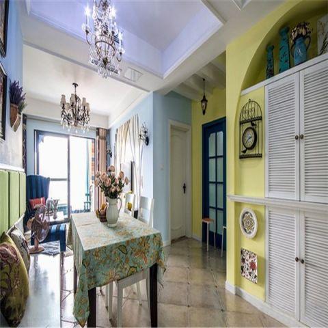 餐厅黄色门厅混搭风格装修效果图