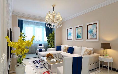 客厅米色窗帘现代简约风格装饰设计图片