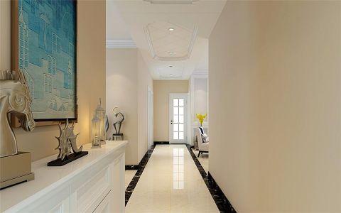 玄关黄色走廊现代简约风格装修效果图
