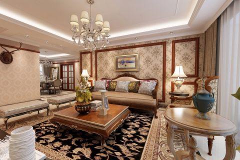 120平中式风格三居室装修效果图