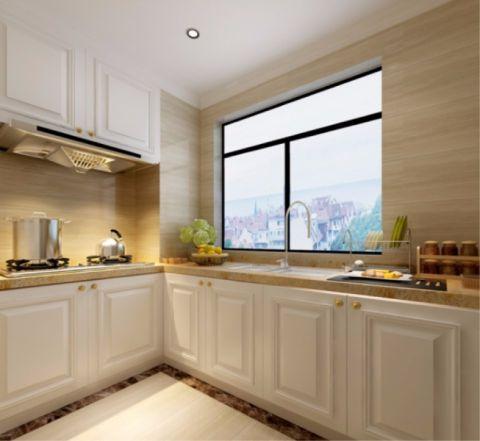 厨房米色吊顶简欧风格装饰图片