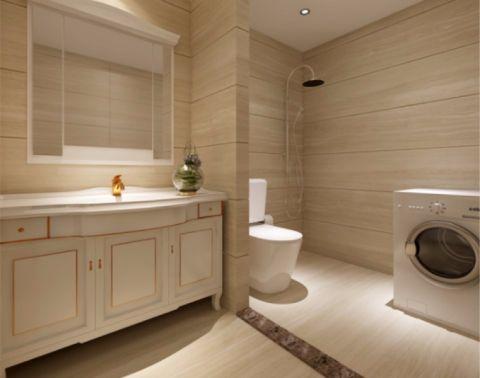 卫生间隔断简欧风格装修设计图片
