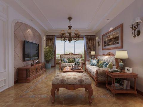 坤泽十里城160平米美式风格三居室装修效果图