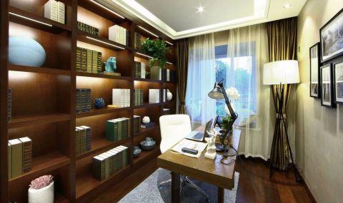书房书桌现代简约风格装潢设计图片