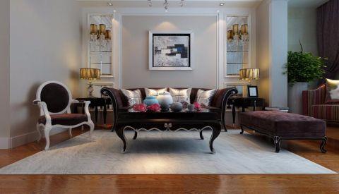 蓝钻庄园小区120平米简约风格三居室装修效果图