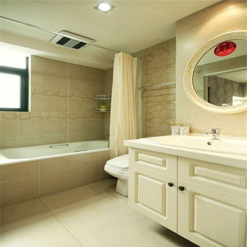 浴室洗漱台现代简约风格效果图