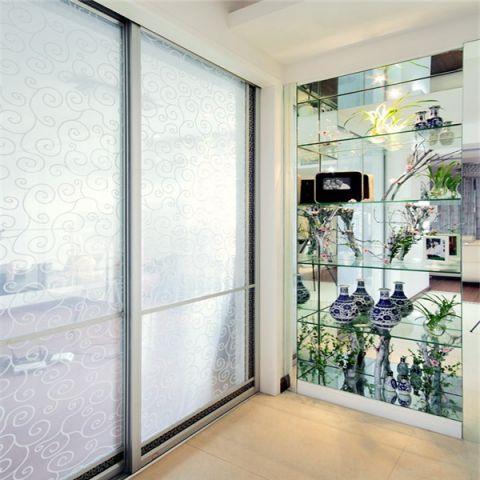 阳台推拉门现代简约风格装饰图片