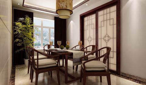 餐厅窗帘中式风格装饰效果图