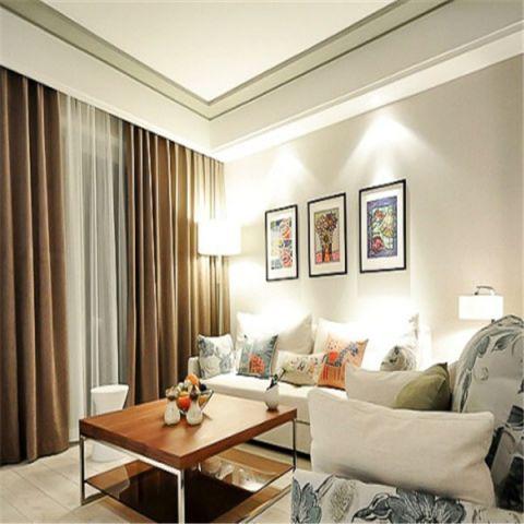 铜雀台90平田园风格两居室装修效果图