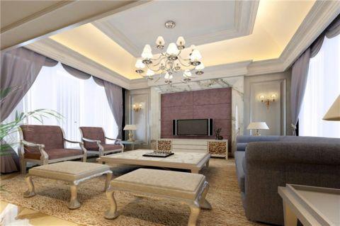 现代风格350平米跃层室内装修效果图