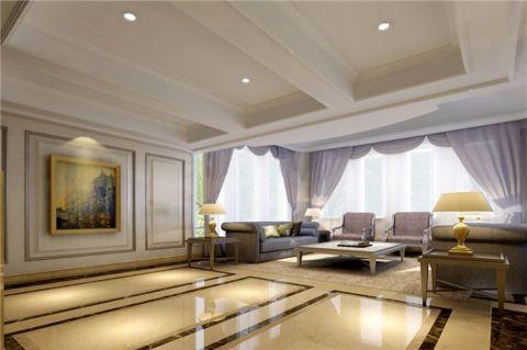 客厅茶几现代风格装潢设计图片