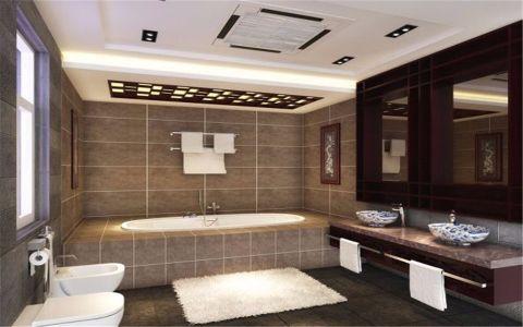 卫生间窗帘中式风格效果图