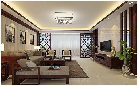 嘉禾红峪131平米中式风格四居室装修效果图