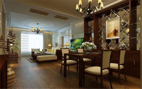 餐厅飘窗中式风格装潢效果图