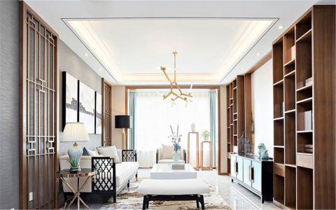 秦岭山水170平新中式五居室装修效果图