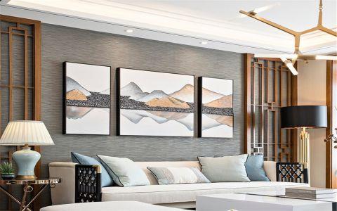 客厅沙发新中式风格装潢设计图片