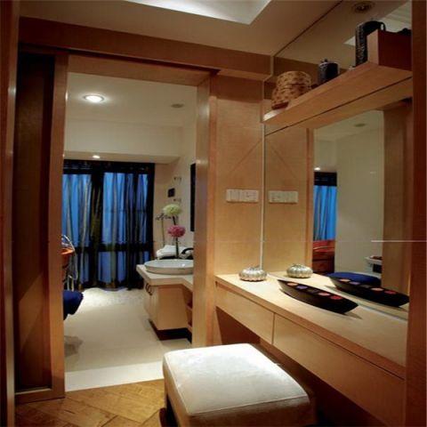 卫生间背景墙东南亚风格装饰图片