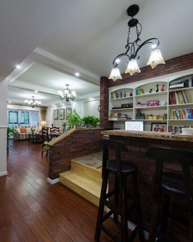 客厅彩色吧台美式风格装饰效果图