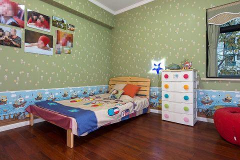 儿童房彩色细节美式风格装饰图片