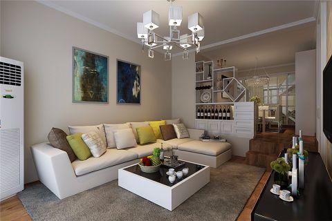华地润园89平现代风格三居室装修效果图