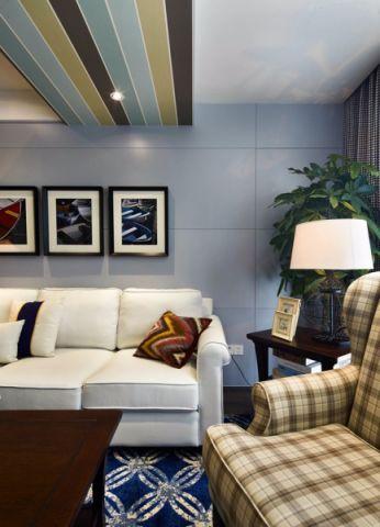 客厅吊顶混搭风格装修设计图片