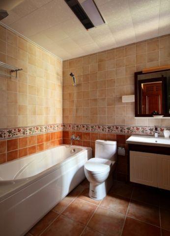 卫生间吊顶混搭风格装潢图片