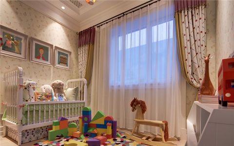 儿童房窗帘欧式风格装饰设计图片