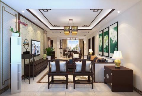 客厅细节中式风格装修效果图