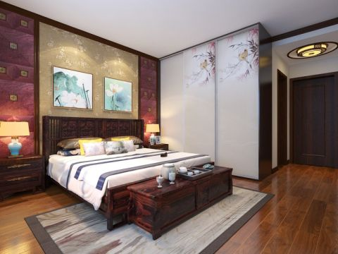卧室细节中式风格装潢图片
