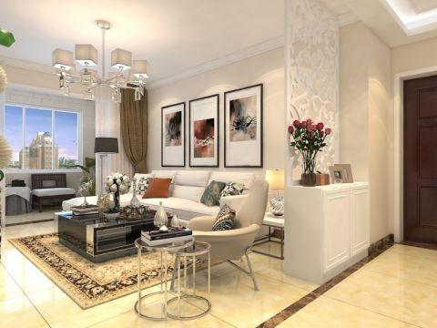 保利中心华府122平现代简约风格三居室装修效果图