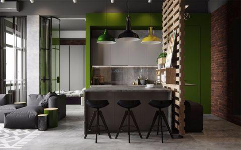 朗诗青春街区82平北欧风格三居室装修效果图