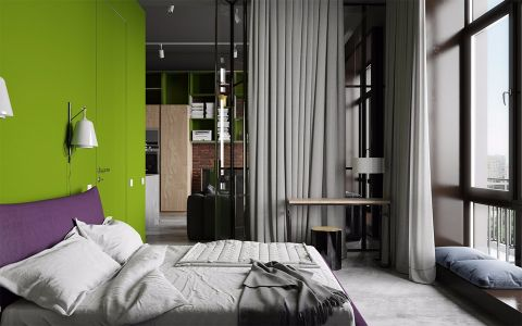 卧室飘窗欧式风格装修效果图