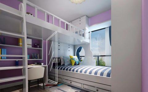 儿童房榻榻米简欧风格装饰设计图片