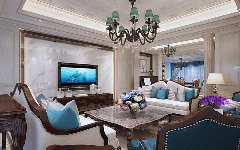 高碑店社区140平米欧式风格三居室装修效果图