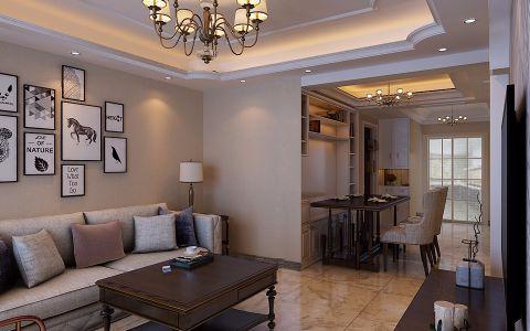 丰台家园120平米中式风格小户型装修效果图