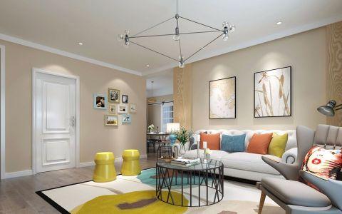 新桥家园100平米简欧风格小户型装修效果图