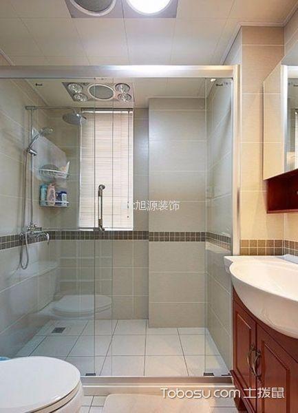 卫生间白色细节混搭风格装潢图片