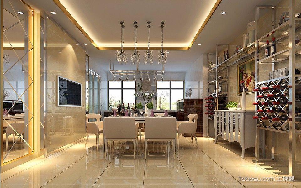 餐厅 吊顶_现代简约风格340平米别墅室内装修效果图