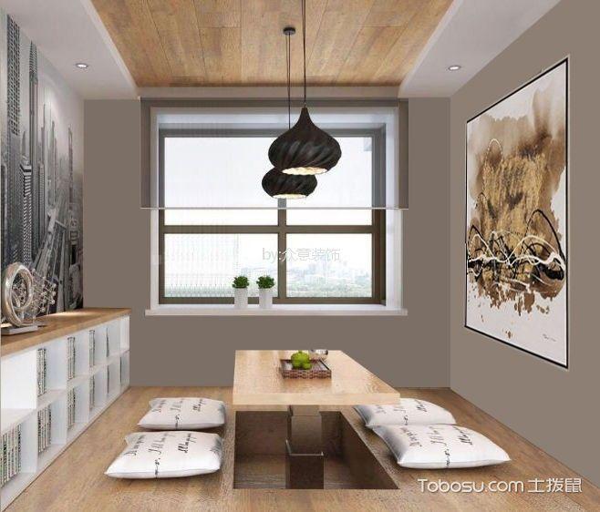 卧室咖啡色榻榻米欧式风格装潢图片