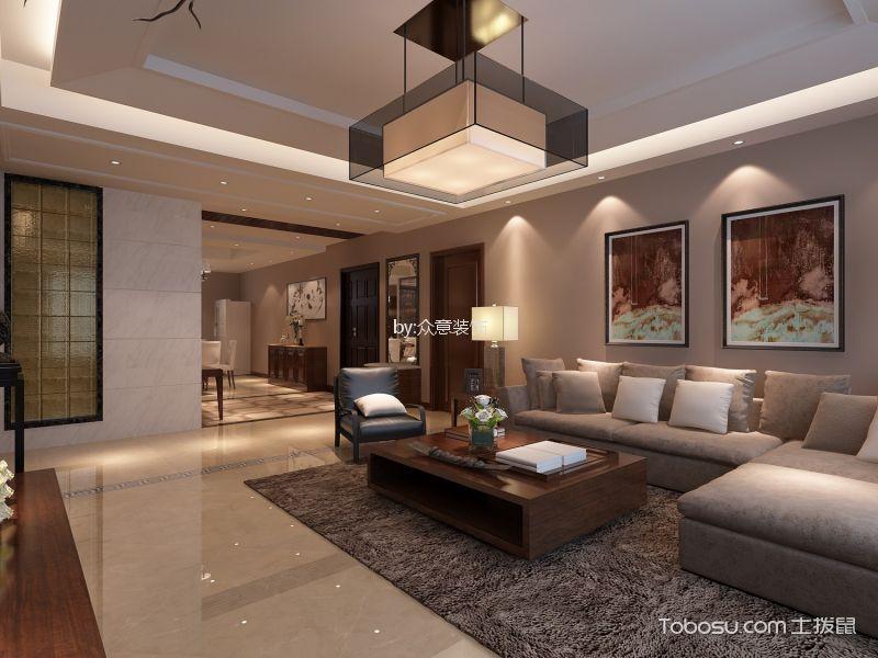 西安建邦华庭116平米现代中式风格效果图
