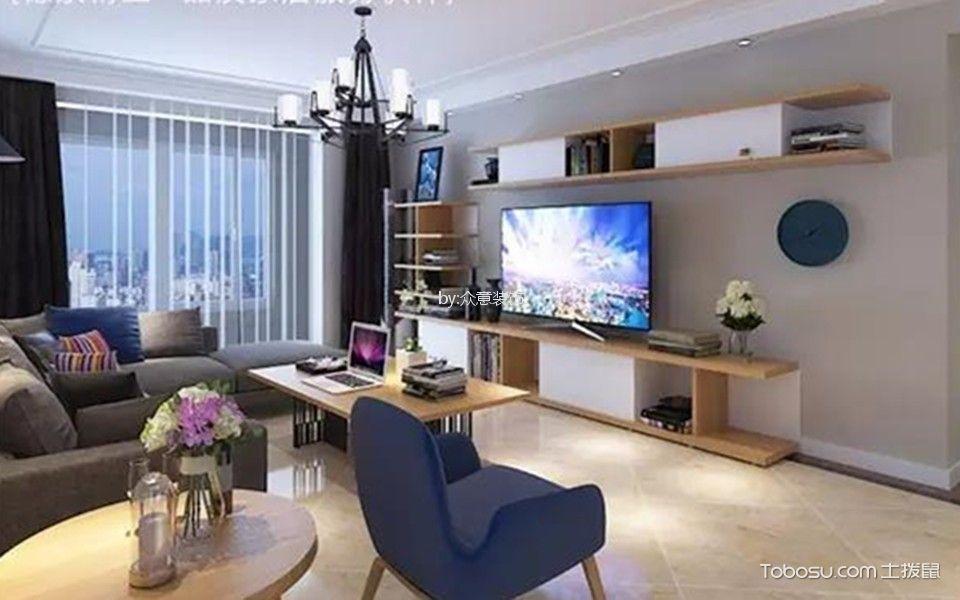 聚福园152平简美风格三居室装修效果图