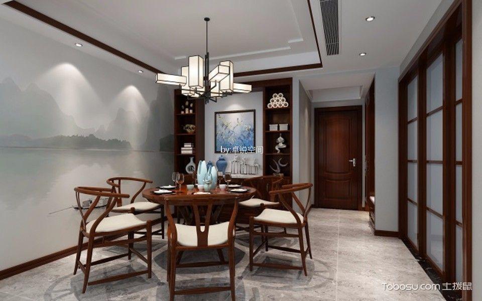 泛海国际186㎡新中式楼房装修效果图