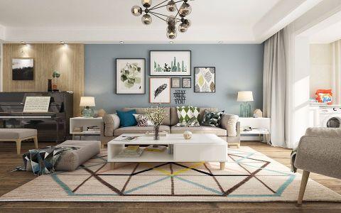复地东湖国际110平三居室简约风格装修效果图