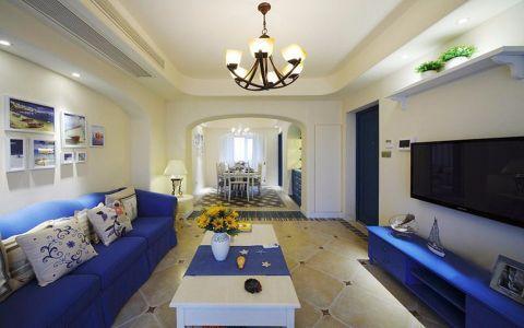 徐汇苑110平米地中海风格两居装修效果图