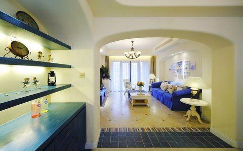 玄关背景墙地中海风格装潢效果图