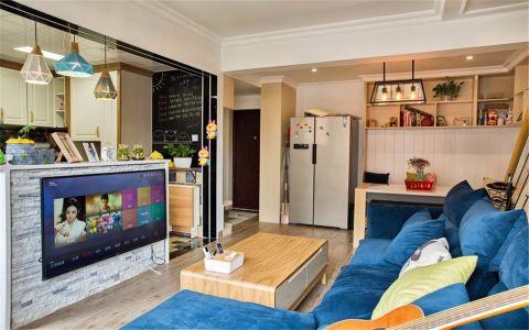 升龙汇金中心45平现代一室一厅一卫装修效果图
