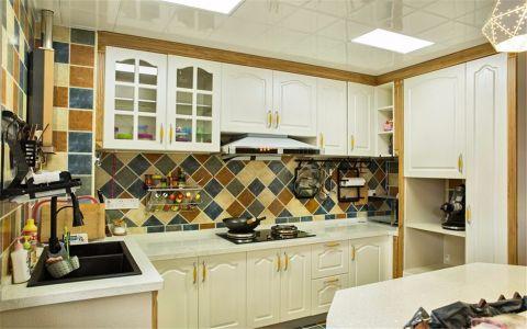 厨房背景墙简欧风格装修设计图片