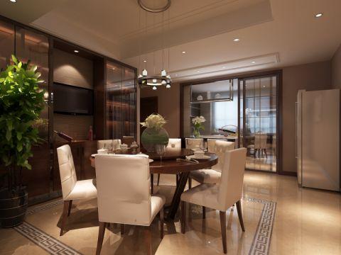 建邦华庭150平现代中式风格三居室装修效果图