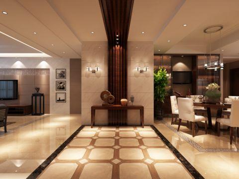 玄关走廊现代中式风格装潢设计图片