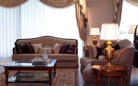 星河丹堤108平欧式风格三居室装修效果图